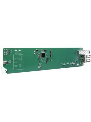 AJA 1-Channel 3G-SDI To Multi-Mode LC Fiber Transmitter With Dashboard Support