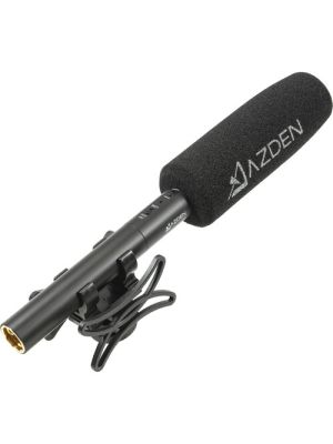 Azden SGM-250 Shotgun Microphone Kit with Shockmount, Windshield, and 3.5mm Adapter Cable Kit (Battery, Phantom)