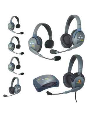 Eartec HUB742MXD UltraLITE 7-Person HUB Intercom System with Max 4G Double Headset