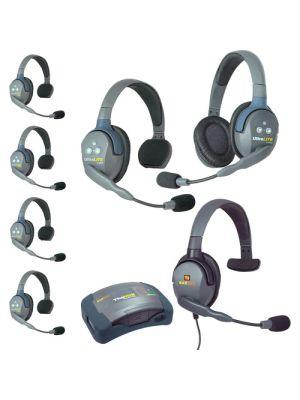Eartec HUB751MXS UltraLITE 7-Person HUB Intercom System with Max 4G Single Headset