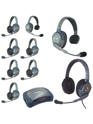Eartec HUB926MXD UltraLITE 9-Person HUB Intercom System with Max 4G Double Headset