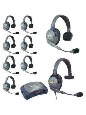 Eartec HUB9SMXS UltraLITE 9-Person HUB Intercom System with Max 4G Single Headset