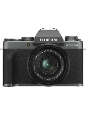 FUJIFILM X-T200 Mirrorless Digital Camera with 15-45mm Lens (Dark Silver)