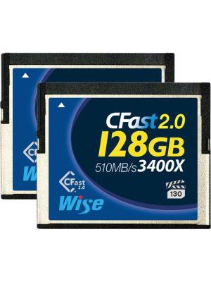 Wise Advanced 128GB CFast 2.0 Memory Card (2-Pack)
