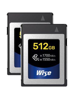 Wise Advanced 512GB CFX-B Series CFexpress Memory Card (2-Pack)