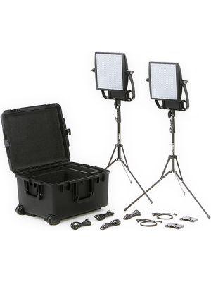 Litepanels Astra 6X Traveler Bi-Color Duo 2-Light Kit with Gold Mount Battery Brackets