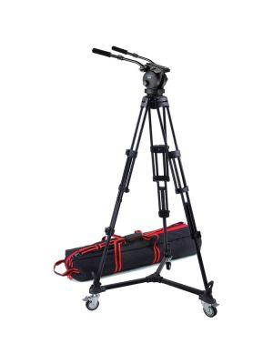 H60 100mm Ball Head/Dual Pan Bars/T1002 Tripod/D-3 Dolly/S-52 Case