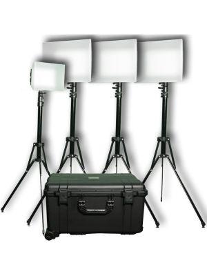 Datavideo PLK-400 4 x Modular Daylight LED Light Reporter Kit