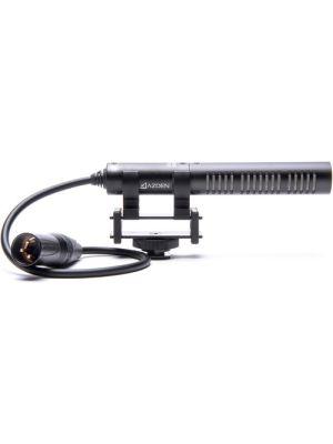Azden SGM-PDII Short Shotgun Microphone with Hardwired XLR Cable
