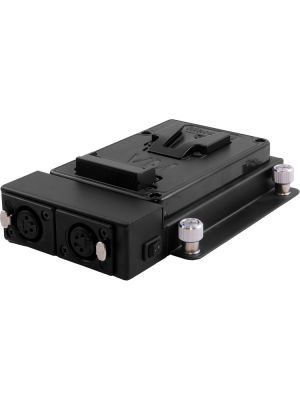 Vesa Mount Plate with Dual Outputs for V-Mount Battery