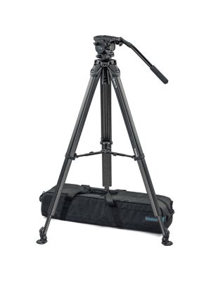 Vinten System Vision blue3 Head with Flowtech 75 Carbon Fiber Tripod, Mid-Level Spreader, and Rubber Feet
