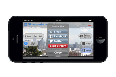 Streambox Announces Live Video Sharing to Facebook and Twitter with StreamboxME Pro App on Apple iPhone and iPad