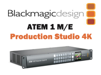 BlackMagic Design Announce new ATEM 1 M/E Production Studio 4K