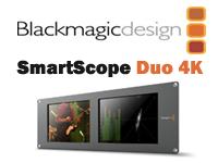 "Blackmagic Design Announces SmartScope Duo 4K-Dual 8"" 3 RU SDI/HD-SDI/3G-SDI/6G-SDI monitoring with built in scopes for technical waveform monitoring."