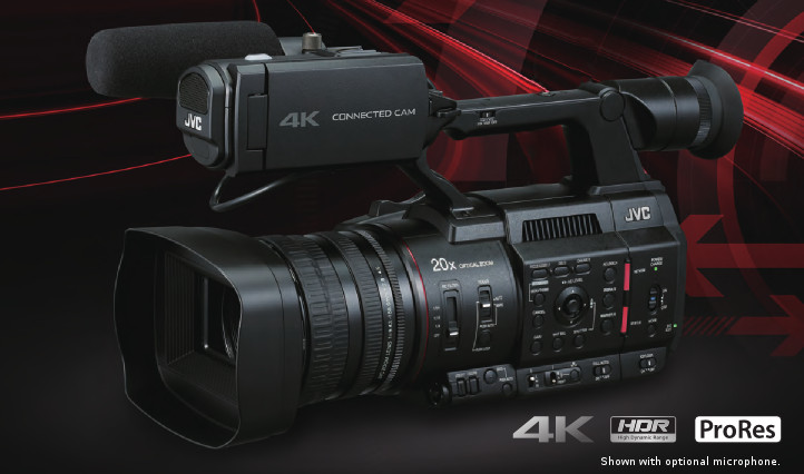 The New JVC GY-HC500 not only offers live streaming, FTP file transfer and remote camera control over IP