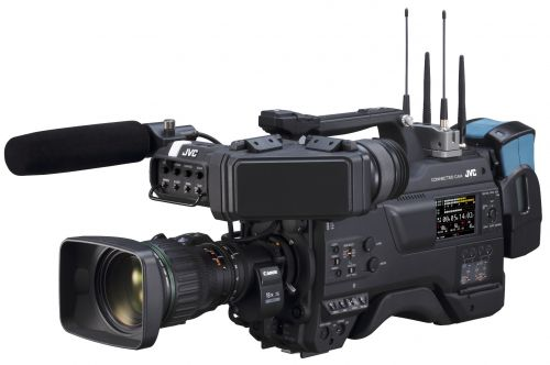 JVC Launches 'CONNECTED CAM' Camcorder at NAB Show GY-HC900, Product updates JVC GY-HM250, BR-DE900 ProHD IP Decoder