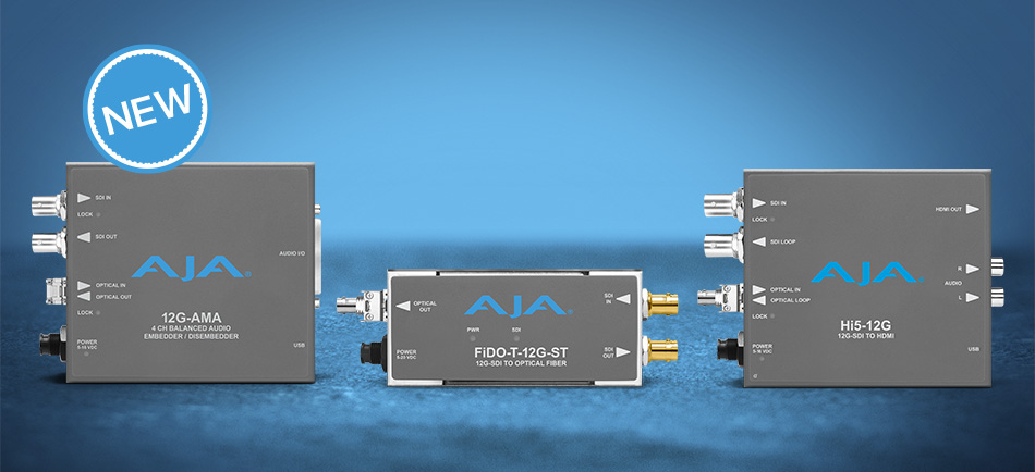 AJA Introduces New 12G-SDI Mini-Converters.