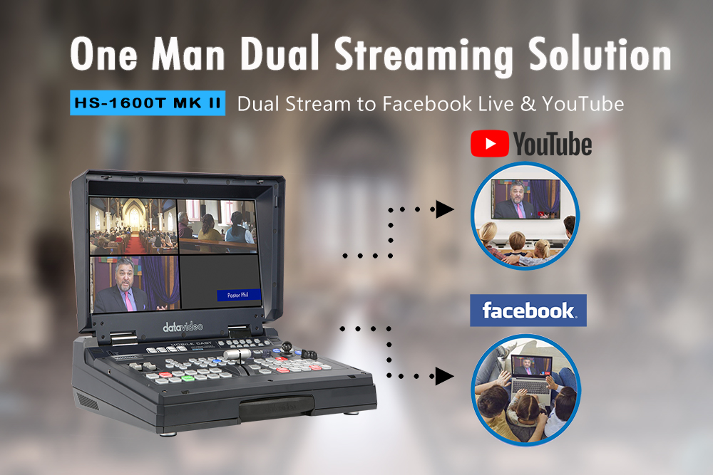 Datavideo Announces an Updated version of the best-selling HDBaseT portable switcher