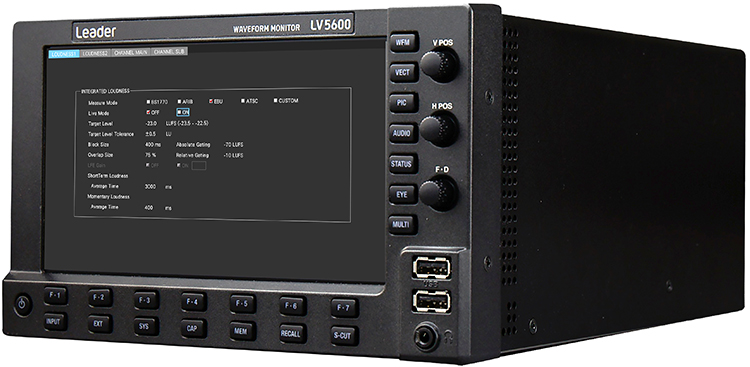 Leader Enhances ZEN Series LV5600 Waveform Monitor & LV7600 Rasterizer