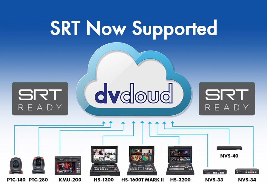 Datavideo's Hardware and dvCloud.tv Support SRT Streaming